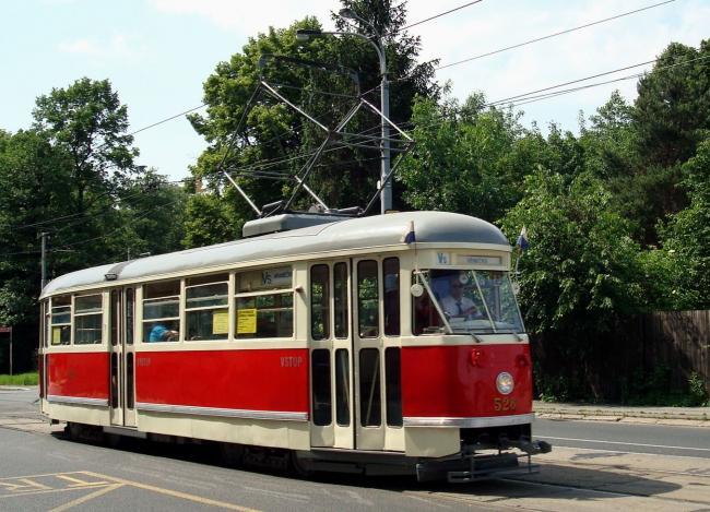 Historischer T1-Tw 528 am 31. Mai 2008 in Ostrava (Foto: Petr Dadák)