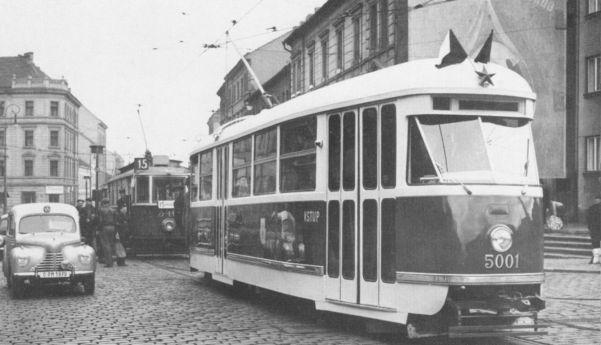 T1 Prototyp 5001 am 14.04.1952 in Prag