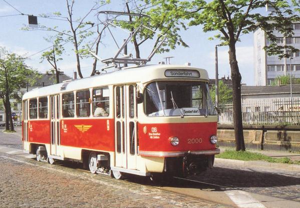 Der Dresdner T4D-Prototyp 2000 im Ursprungszustand am 24. April 1999.